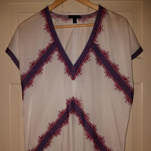 Jcrew Embroidered Tunic T-Shirt: Size S